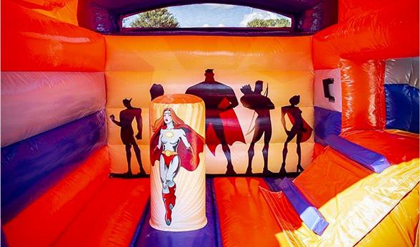 Chateau Gonflable Super Heros Anniversaire Enfant