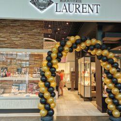 Arche Ballons Noir Doré Or Boutique Commerce Elegant